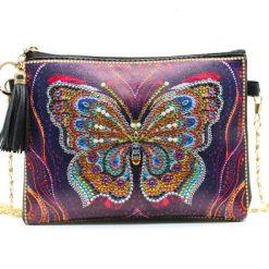 Taske med sommerfugl 3 - Diamond Paint