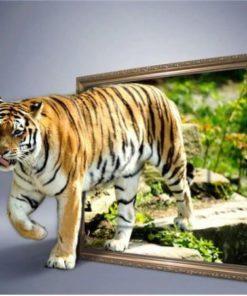 Tiger ud af billede - Diamond Paint