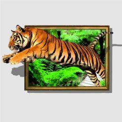 Tiger ud af jungle - Diamond Paint