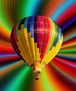 Luftballon i diamond paint