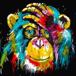 Opgivende abe - Diamond Paint