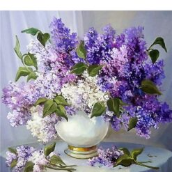 Lavendler i vase - Diamond Paint
