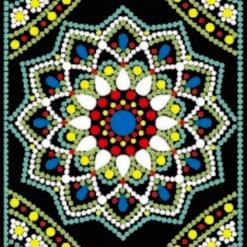 Notesbog mandala (sort) - diamond paint