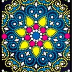 Notesbog med mandalamønster - diamond paint