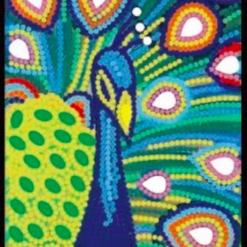 Notesbog med påfugl - diamond paint