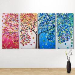 4 delt bling bling på væg - Diamond Paint