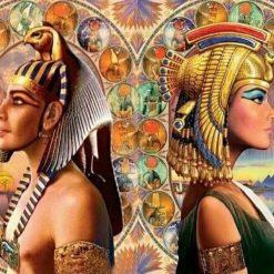 Farao mand og kvinde - diamond paint