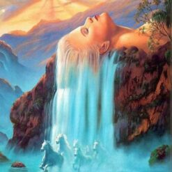 Kvinde med vandfaldshår - diamond paint