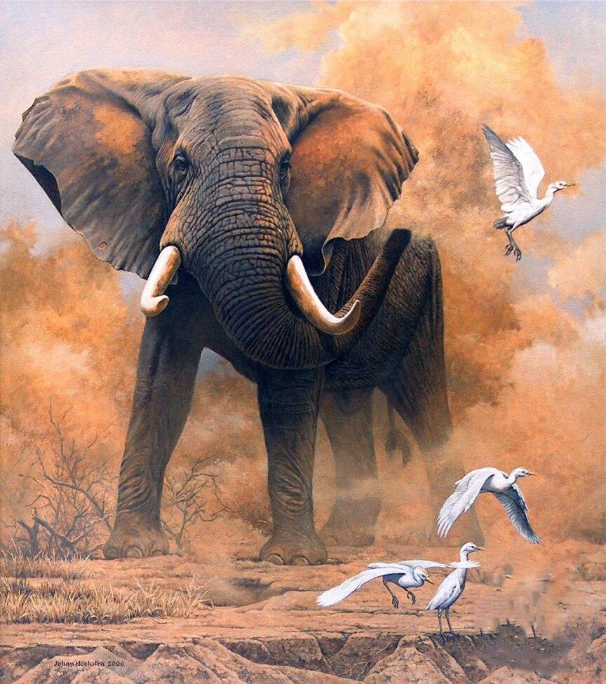 Diamond Painting - Elefant på savannen thumbnail