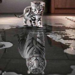 Kat med store drømme - diamond paint