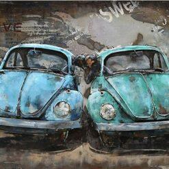 2 blå Volkswagen Bobler i diamond paint