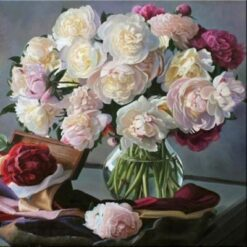 Sommerblomster i vase i diamond paint