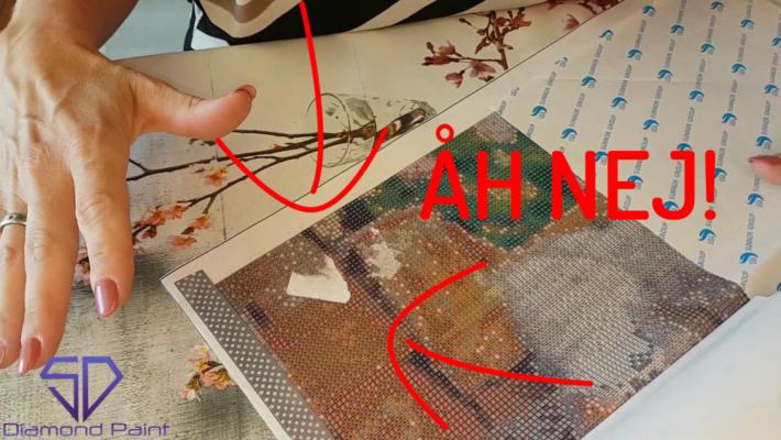 Fjern papir og snavs fra klisteret på dit lærred