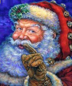 Julemanden i diamond paint