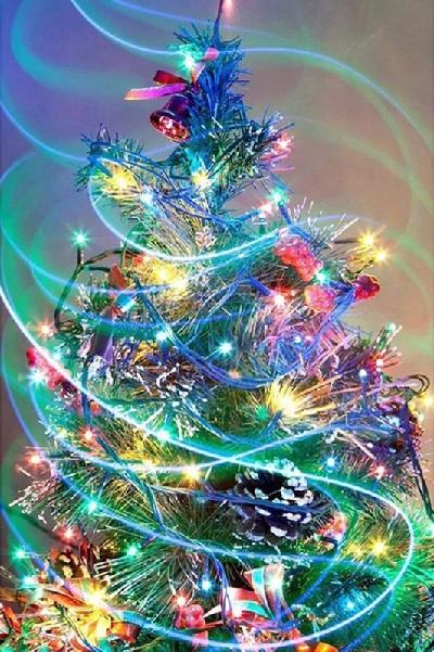Billede af Farverigt juletræ