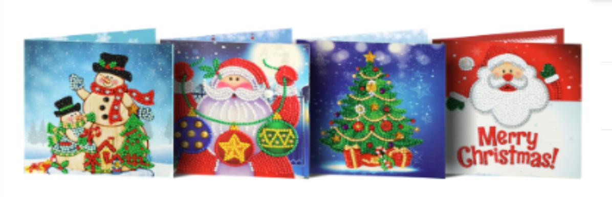 Flotte julekort C (sæt med 4 julekort)