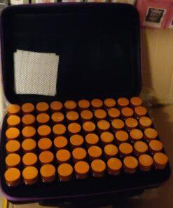 Opbevaringstaske med 60 bøtter (10 ml)