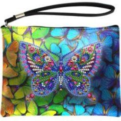 Diamond paint-pung med stor sommerfugl