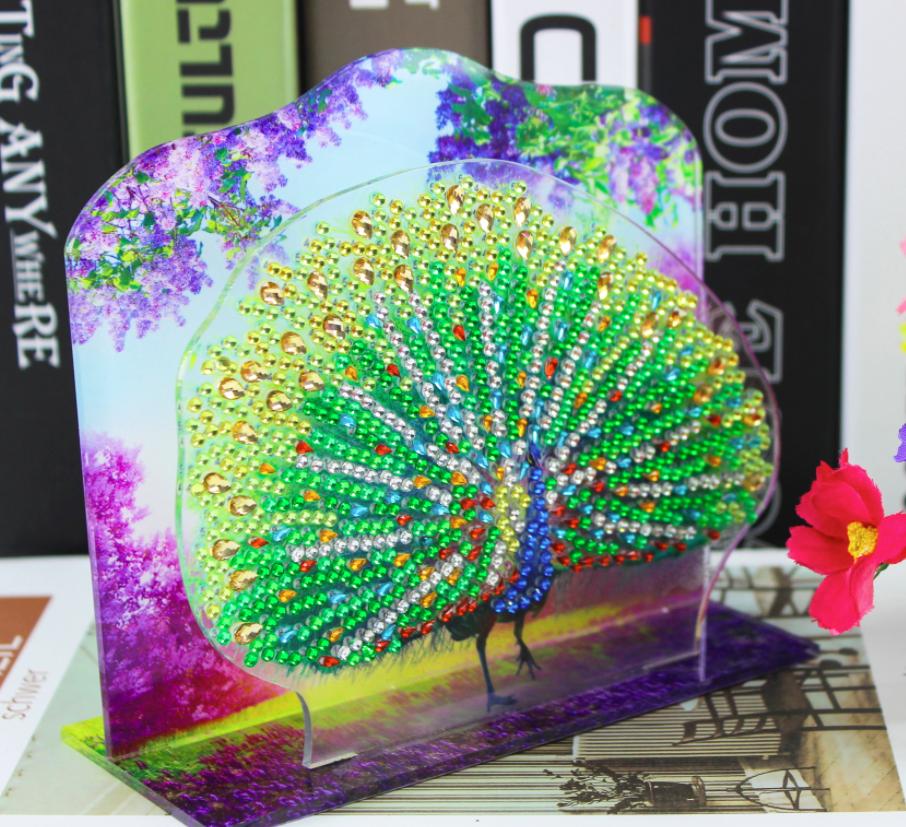 Diamond Painting - 3D-billede af påfugl thumbnail