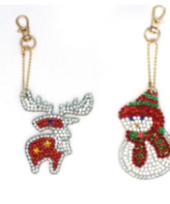 4 flotte julemotiver som diamond paint