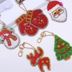 5 nøgleringe med jule-motiver