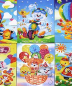 6 kort med børne-motiver