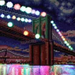 Billede med led-lys af oplyst bro - slukket