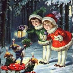 Børn og nisser - diamond paint