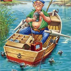 I en lille båd der gynger - diamond paint