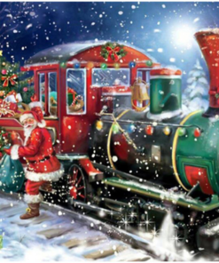 Julemanden med tog
