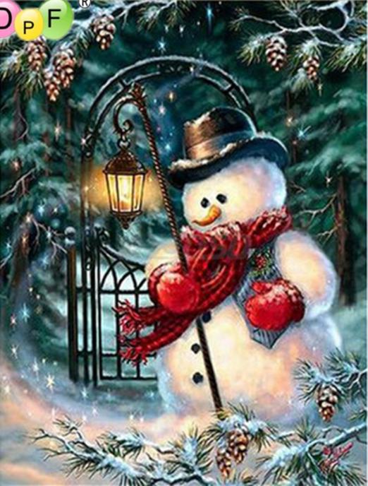 Snemand med lanterne