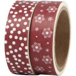 Washi-tape med iskrystaller og prikker