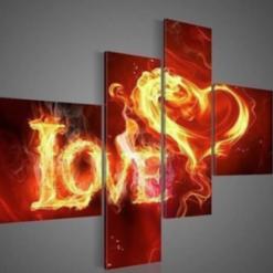 4-delt Love i diamond paint
