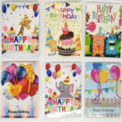 6 fødselsdagskort i diamond paint