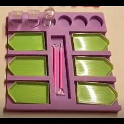 Bakkeholder med plads til 6 bakker i diamond paint - C