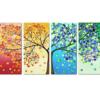 Billede af træ i 4 dele i diamond paint