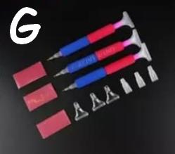 Rød og blå (med udskiftelige brede hoveder) (Sæt G)