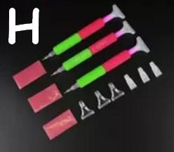 Rød og grøn (med udskiftelige brede hoveder) (Sæt H)