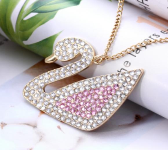 Diamond Painting - Halskæde med svane thumbnail
