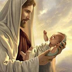Jesus med baby - diamond paint