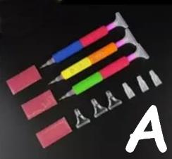 Sæt med 3 forskellige skumpenne (A)