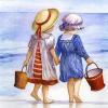 Børn ved havet - diamond paint