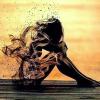 Gennemsigtig pige i diamond paint
