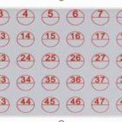 Klistermærker fra nr. 1 til 50