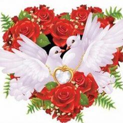 2 duer med hjerte