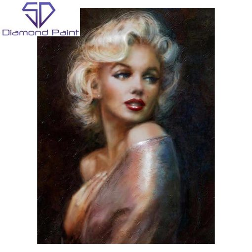 Kunstnerisk Marilyn Monroe i diamond paint
