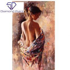 Kvinde i tæppe i diamond paint