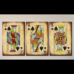 Spillekort - 3delt i diamond paint