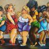 6 festlige kvinder i diamond paint