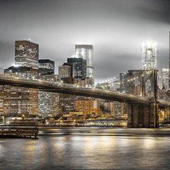 Bro foran skyskrabere i diamond paint